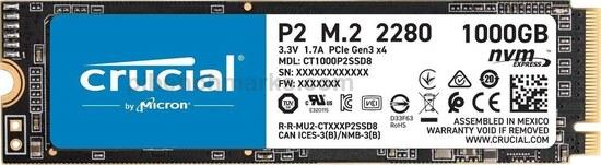 Crucial P2 M.2 Series