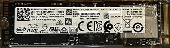 Intel 7600p Pro SSD Series
