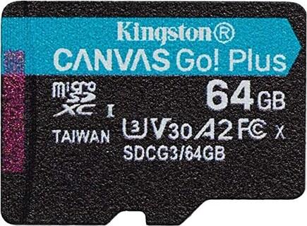 Kingston SD Canvas Go! Plus (SD64G A2 C10 V30 U3)