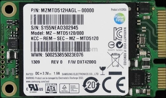 Samsung SM841 mSATA Series