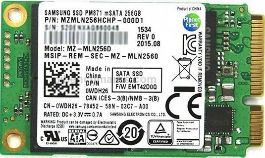 Samsung PM871 mSATA