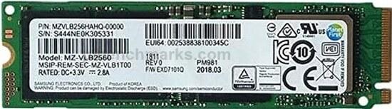 Samsung PM961 M.2 NVMe Series